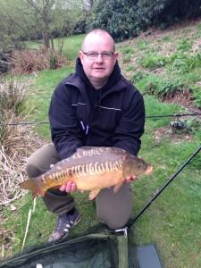 Gareth with Mirror carp