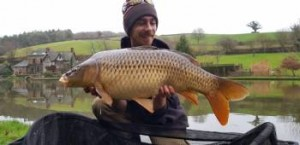 Lewis with 27lb carp