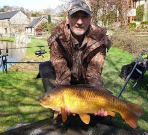 Richard with nearly 20lb common carp