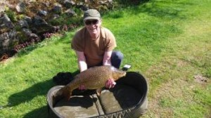 Russell with 18lb carp