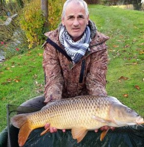 Richard with 28lb common carp Nov 2019